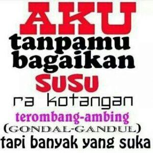 100 Gambar DP BBM Bahasa Jawa Kocak Lucu & Gokil 41