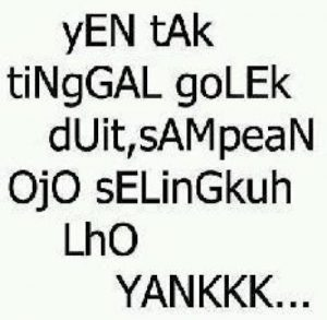 100 Gambar DP BBM Bahasa Jawa Kocak Lucu & Gokil 43