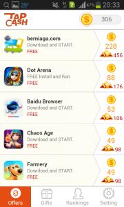 Cara Cepat Menghasilkan Uang Dari Aplikasi Android aplikasi tap cash rewards