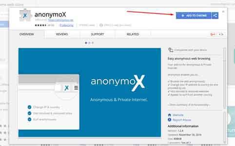 cara membuka situs yang diblokir internet positif di google chrome dengan anonymox