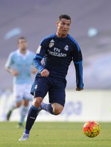 VIGO, SPAIN - OCTOBER 24: Cristiano Ronaldo of Real Madrid in action during the La Liga match between Celta Vigo and Real Madrid at Estadio Balaidos on October 24, 2015 in Vigo, Spain. (Photo by Denis Doyle/Getty Images)