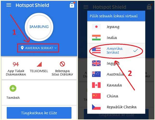cara buka situs diblokir dengan hotspot shield 1