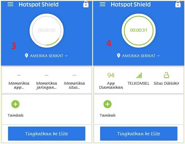 cara buka situs diblokir dengan hotspot shield 2