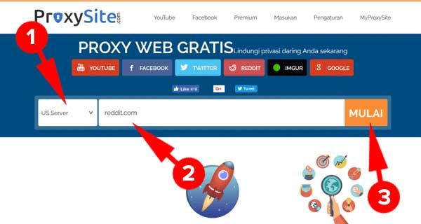 Buka Situs Diblokir dengan Situs Proxy Gratis